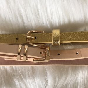 Lot of 2 Charlotte Russe skinny waist belts